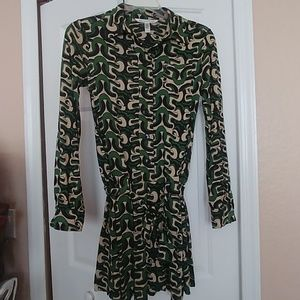 Diane Von Furstenberg button front dress